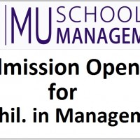 Admission Open for M.Phil. in Management - MU