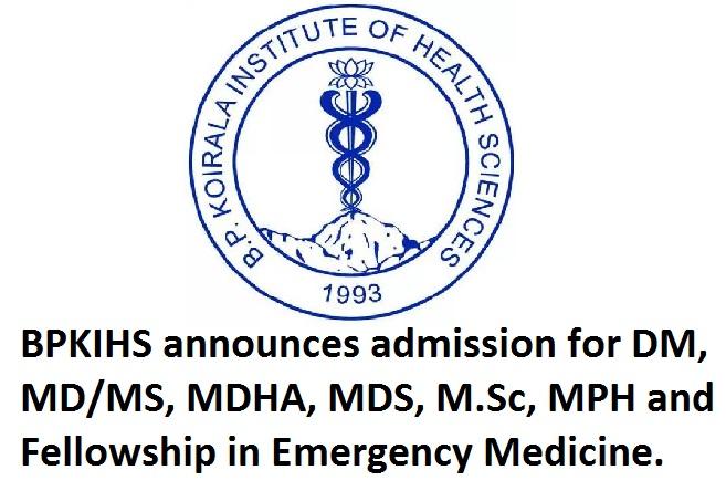 BPKIHS announces admission