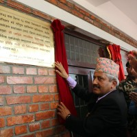 Education Minister hands over school building Palungtar Gorkha