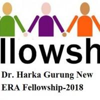 Harka Gurung New ERA Fellowship