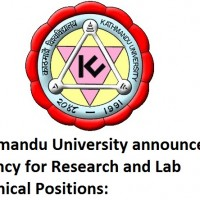 Kathmandu University announces vacancy for Research and Lab Technical Positions