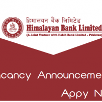 Himalayan Bank Limited Vacancy Announcement
