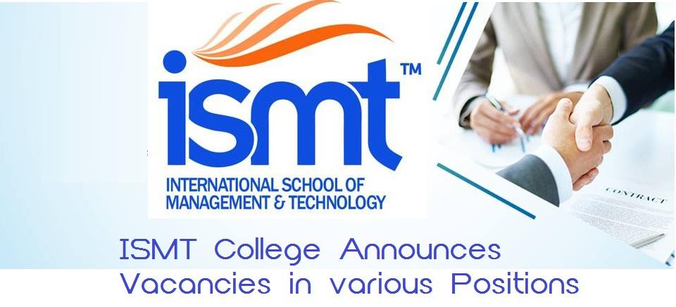 ISMT College Vacancy