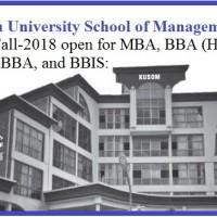 Kathmandu University School of Management Admission for MBA and BBA