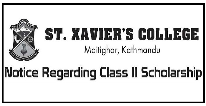St Xaviers College Notice Regarding Class 11 Scholarship