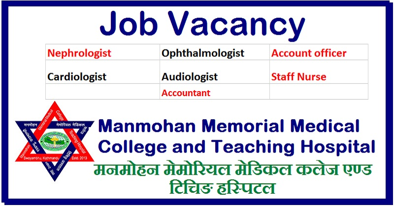 Vacancy Announcement at Manmohan Memorial Medical College and