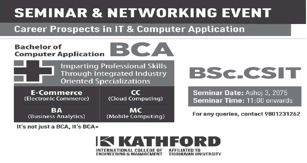 Seminar and Networking Event at Kathford International College of Engineering and Management