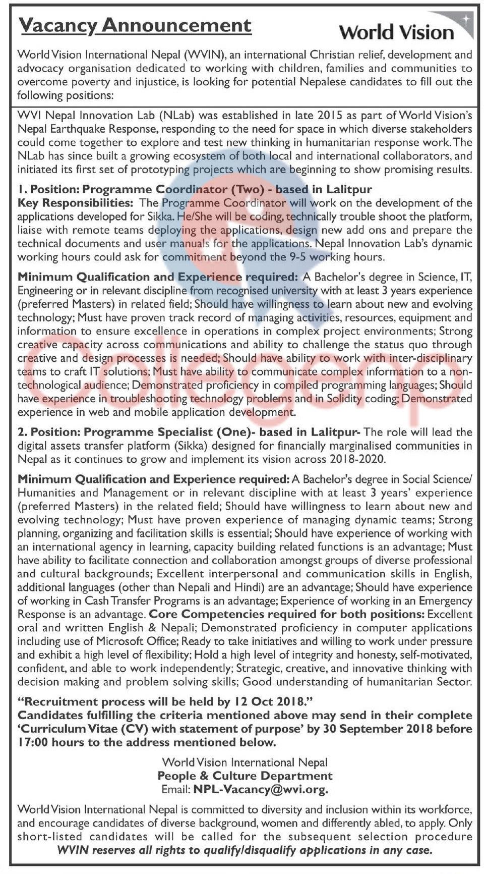 World Vision International Nepal (WVIN)