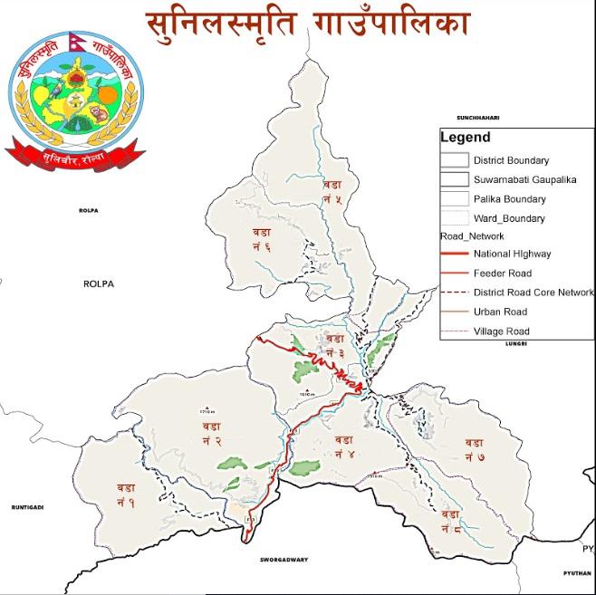 Sunil Smriti Rural Municipality Location Map