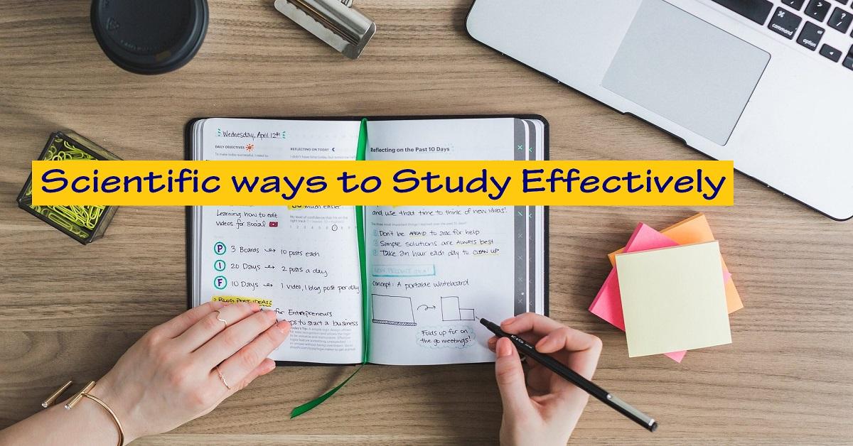Scientific ways to Study Effectively