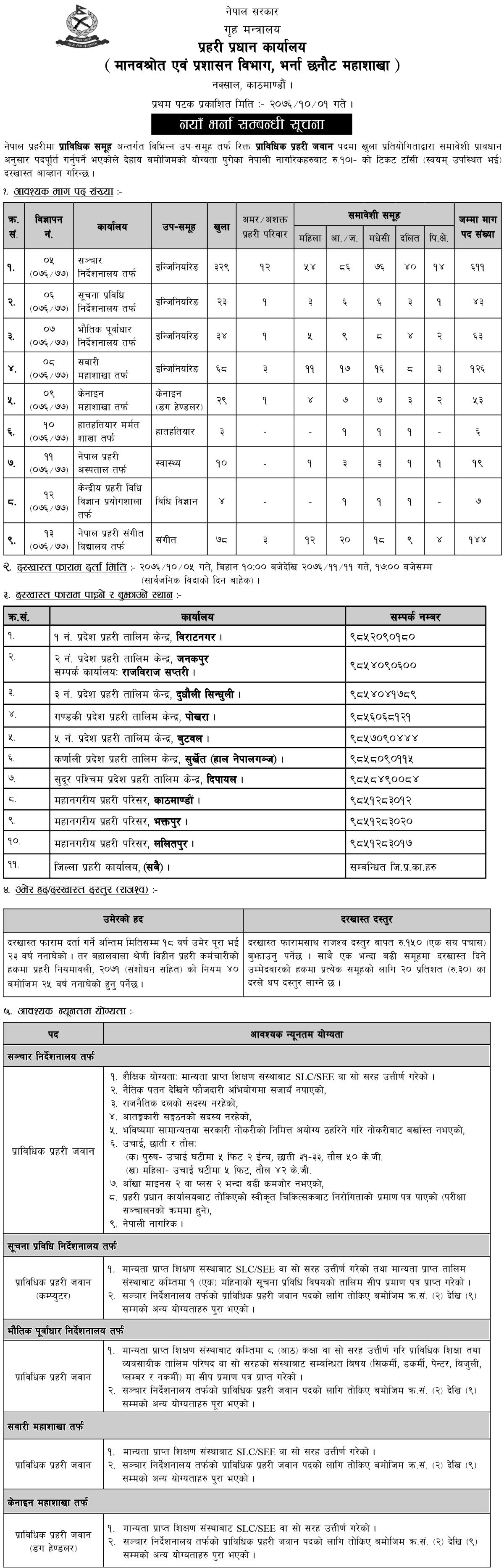 Nepal-Police-Vacancy-for-Technical-Police-Jawan-Post Job Application Form In Nepali on blank generic, part time, big lots, free generic, sonic printable,