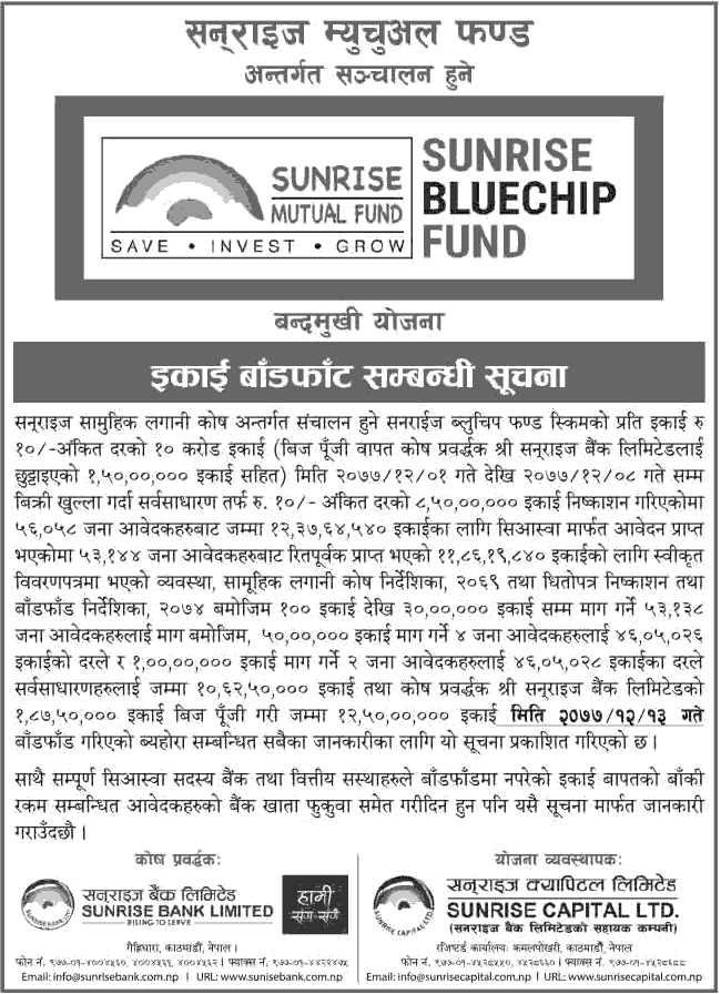 Sunrise Bluechip Fund Allotment