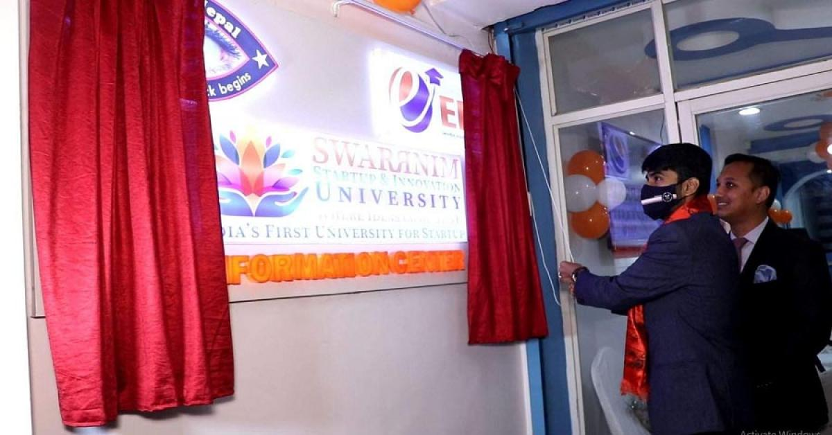 Swarrnim University Inaugurated Nepal Office at e-Spot International Education Consultancy