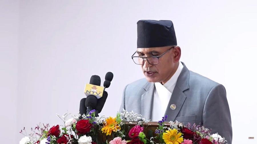 Finance Minister Bishnu Poudel