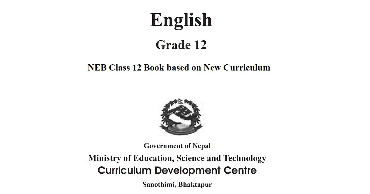 Class 12 English Book