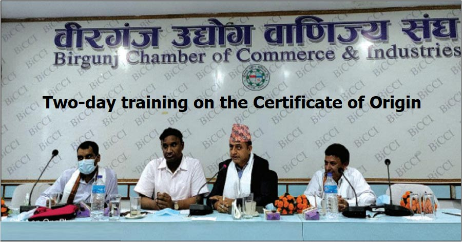 Two-day training on the Certificate of Origin Completed in Birgunj